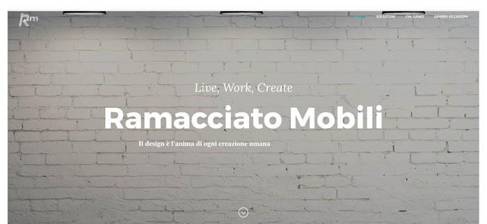 Ramacciato mobili onewebstudio for Siti mobili design