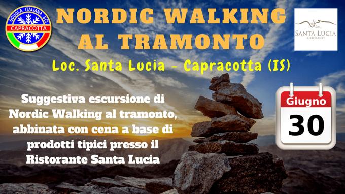 Nordic Walking al tramonto a Capracotta